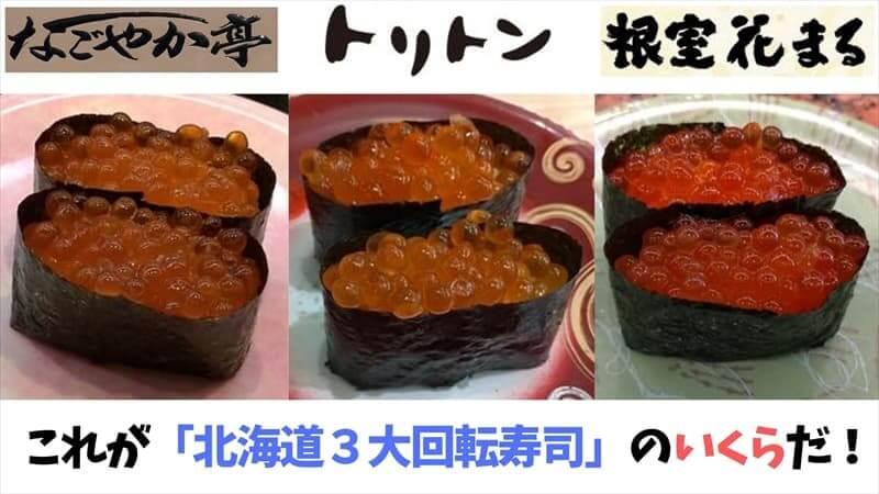 北海道3大回転寿司のいくら