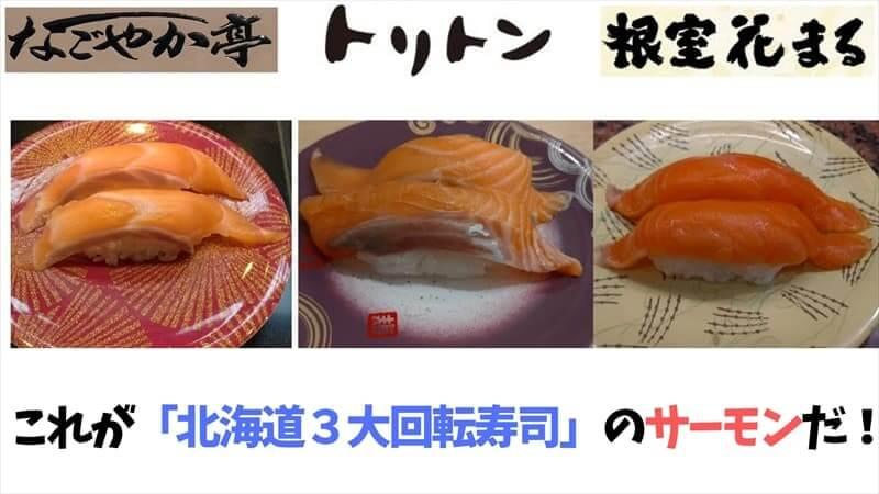 北海道3大回転寿司のさーもん